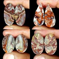 Natural Crazy Lace Agate Pair Oval Pear Fancy Loose Gemstone Collection
