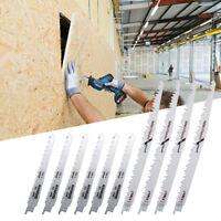 Set 10x lames de scie sabre récipro égoïne bois et métal pour Dewalt Bosch