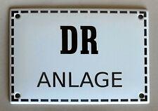 Emailleschild DR ANLAGE 17x12 cm Reichsbahn Bahnanlage