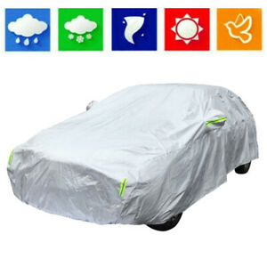 Full Car Cover Waterproof Auto Protection Rain Snow Resistant Fits Large Sedans