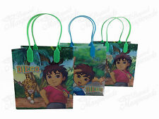 Nickelodeon Go, Diego, Go! Party Favor Supplies Goody Loot Gift Bags [12ct]