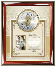 Parents Thank You Wedding Gift Clock Personalize Picture Frame Photo Bride Groom