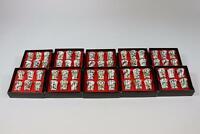 60x Fingerhut Porzellan 6x verschiedenes Vogel Dekor im Karton (RK486)