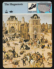 THE HUGUENOTS French Colony Destroyed in Florida 1980 STORY OF AMERICA CARD