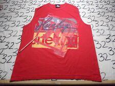 XL- Damaged/ Hurley Vintage Lightly Cracked Graphics Sleeveless Rare T- Shirt