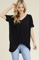 NWT Women's Small Black Tunic Summer blouse Top BOUTIQUE USA made