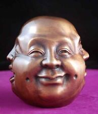 Four Face Buddha Real Bronze w/ Foundry Stamp Genuine 4 Face with Rattle !