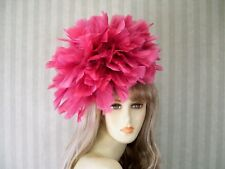 """ROSE Feather Fascinator Kentucky Derby, Wedding Feather Hat, Easter Hat, 12"""""""
