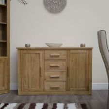 Light Wood Tone Sideboards with 4 Drawers