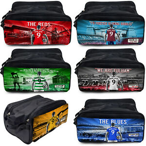 Football Boot Bag Sports Gym Shoe Trainer PE Kit Personalised Gift - All Teams