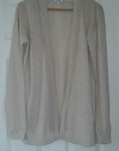 Pretty Fat Face Lightweight Cardigan in Natural Ivory size 14. V. G. C.