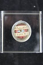 † 18TH ST AUGUSTINE BISHOP DOCTOR ITALIAN RELIQUARY 1 THECA RELIC WAX SEALED †