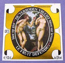 Hoegaarden Brewery DE VERBODEN VRLICHT -Forbidden Fruit - label BELGIUM #206461