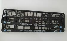 Volkswagon VW WolfsburgNumber Plate Surrounds - Holders - Frames (PAIR)