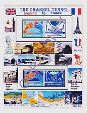 GB 1994.A4 DESIGN THE CHANNEL  TUNNEL  MINT NH  SET 4 ( & free GIFT/S (29)