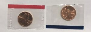1984 P&D LINCOLN MEMORIAL CENTS FROM MINT SET IN MINT CELLO 2 Coin Lot