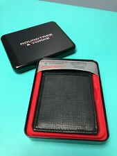 ROUNDTREE & YORKE SLIM POCKET with WING - RFID Technology GENUINE LEATHER WALLET