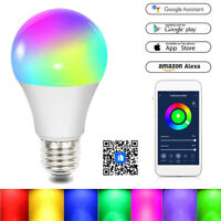 Wifi Smart LED Light Bulb RGB Dimmable App Remote Control for Alexa Google Home*
