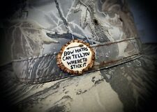 Bow Hunting Arrow Deer Hand Carved From Deer Antler Hunting Hat Pin