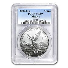2009 1 oz Silver Mexican Libertad Coin - MS-69 PCGS - SKU #60733