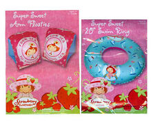 "Strawberry Shortcake Inflatable Children's 20"" Swim Ring Tube + Arm Floats 3+"