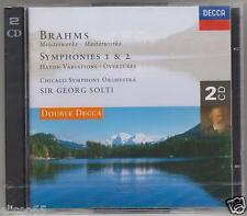 BRAHMS SINFONIA N 1 & 2 HAYDN VARIATIONS  SOLTI 2 CD
