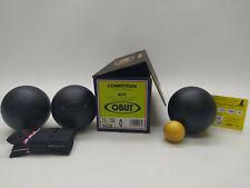 3 Boules de Pétanque OBUT RCC Carbone Compétition 72mm 700g Stries 0 - NEUVES