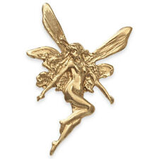 9ct Gold Art Nouveau Style FAIRY Pendant (Handmade UK)
