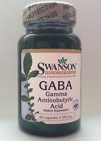 Swanson GABA 250mg Gamma Aminobutyric Acid 60 capsules - BEST PRICE - FREE P&P
