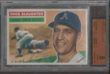 1956 Topps Baseball card #109 Enos Slaughter BVG 8 NM - MT