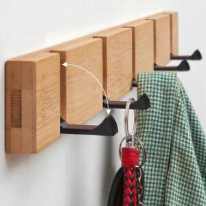 Eiche Garderobenhaken Leiste Wand Garderobe Kleiderhaken Holz Vintage Shabby