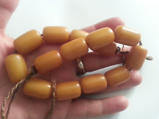 Antique large Ottoman yellow bakelite Faturan islamic prayer beads 68gr