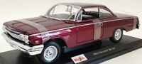 Maisto 1/18 Scale Model Car 46629H - 1962 Chevrolet Bel Air - Burgundy