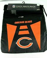 "Chicago Bears NFL Cinch Back-Sack Black Drawstring Closure 18"" x 15"""