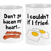 Don't Go Bacon My Heart .. I couldn't If  I fried Coffee Mug Cup Two Sided Keto