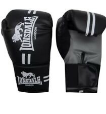 New Lonsdale Contender Boxing Gloves Black Size Large/Xl