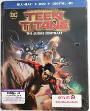 DC TEEN TITANS THE JUDAS CONTRACT(BLU-RAY+DVD+DIGITAL HD)TARGET EXCLUSIVE STEEL