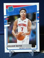 2020-21 Donruss Killian Hayes Rated Rookie RC #202 Detroit Pistons