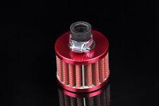 Non 12mm Red MINI OIL AIR INTAKE CRANKCASE VENT COVER BREATHER FILTER