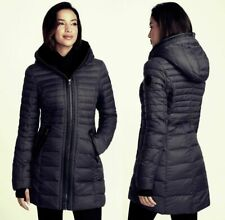 PAJAR CANADA Women's Cece Down Hooded Faux Fur Puffer Coat Jacket Black Small