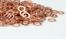 50PCS Multiple Metric Copper flat gasket sealing ring Crush washer for boat New