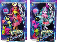 Monster High ELECTRIFIED Clawdeen Wolf and Twyla Hair Raising Ghouls Dolls ~NEW~