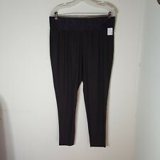 Maurices Leggings women's size 1 Regular Lace waist dark gray  new with tags