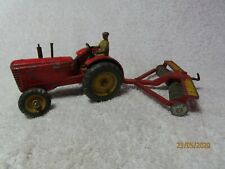 "Vintage DINKY TOYS FARM TRACTOR  with Harrow ""~*"
