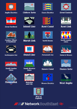 Network SouthEast - Route Brand Poster - A2 Size