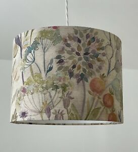 Lampshade Voyage Hedgerow Country Floral Flowers Linen Drum Light Shade