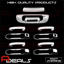 FOR DODGE RAM 2002 03 04 05 06 07 08 CHROME 4 DR HANDLE COVER W/K TAILGATE COVER