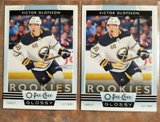 (2) 2019-20 OPC GLOSSY VICTOR OLOFSSON NEW UPPER DECK SERIES TIN  RC INSERT NEW