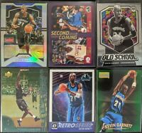 Lot of (6) Kevin Garnett, Including Prizm silver, Optic/Mosaic & other inserts