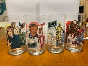 Star Wars Empire Strikes Back collectors glasses- set of 4